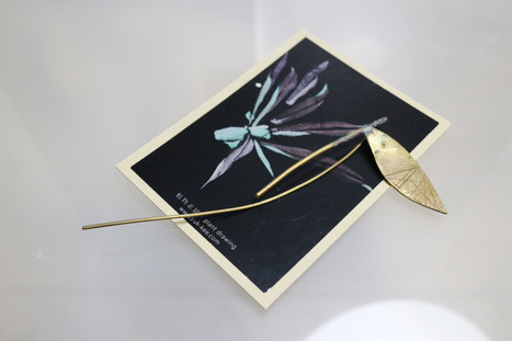 16 plant brooch in brass - hkd $280