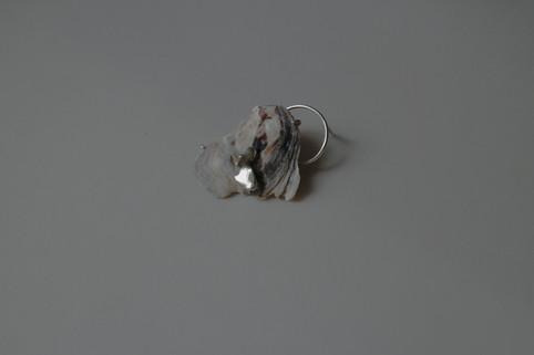 14 shell earring in sterling silver - hkd $480