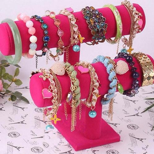Pink 2 tier Watch & Bracelet Display