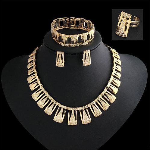 Golden Babylonian Necklace Set