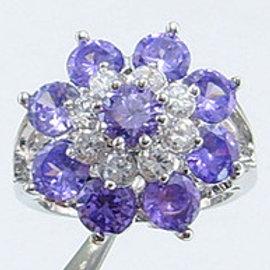 3.5ct Tanzanite Floral Gemstone Ring