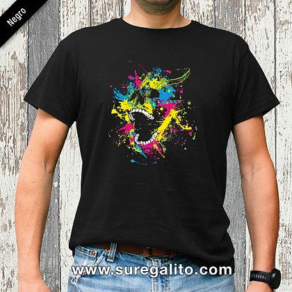 Camiseta unisex   Calavera Manchas