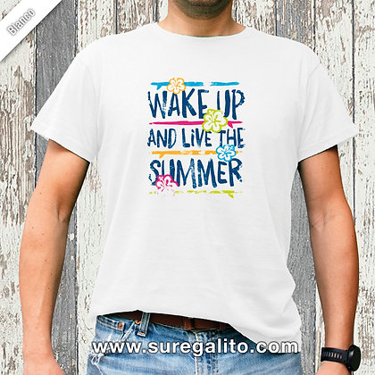 Camiseta unisex | Wake Up and Live the Summer
