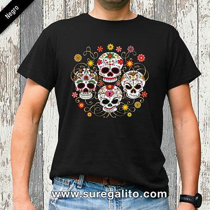 Camiseta unisex | Calavera Flores