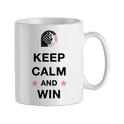 Taza | Keep calm and win (woman)