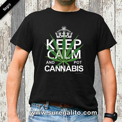 Camiseta unisex | Keep Calm and pot Cannabis