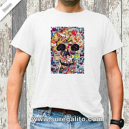 Camiseta unisex   Calavera Pop Art