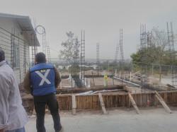 Construcción de los baños