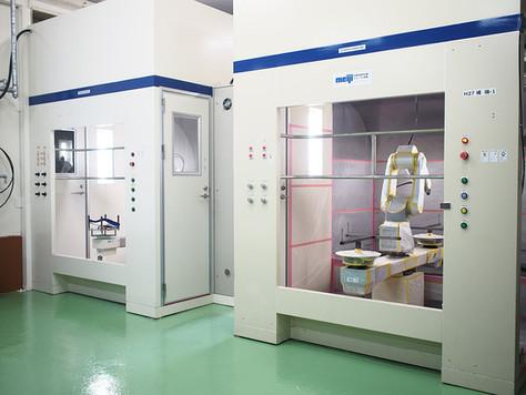 2020/6/8 ユニット型ロボット塗装システムを増設しました。