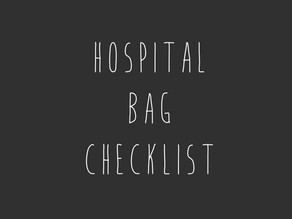 Your hospital bag checklist