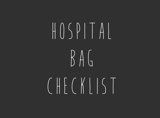 Your hospital bag checklist