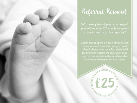 Complimentary £25 to spend at Inspirique Baby Photography