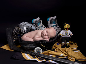 Our mini Nottingham Panthers fan...