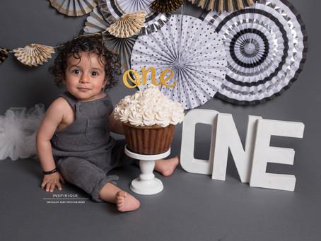 Aaran: Cake Smash Photoshoot