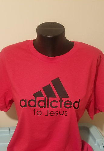 Addicted to Jesus T-Shirt (Red)