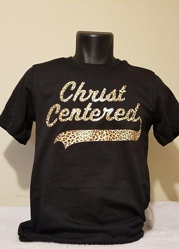 Christ Centered Logo Leopard Print T-Shirt