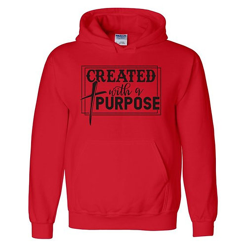 Created With A Purpose Hooded SweatShirt