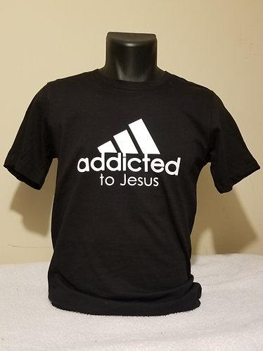 Addicted to Jesus T-Shirt (Black Shirt)