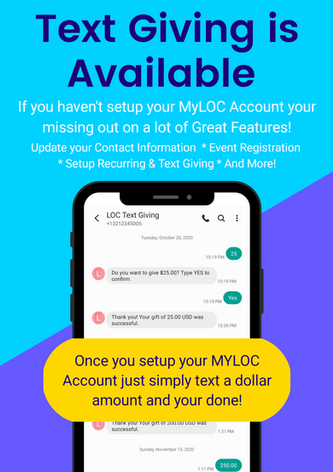 Text Giving is Available