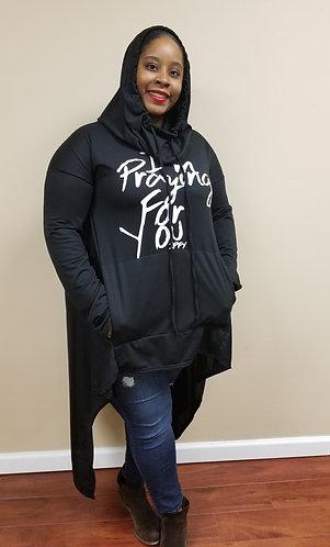 Hi-Lo Hooded Sweatshirt w/Pockets