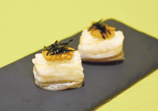ウニの洋風寿司