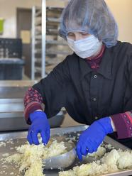 Kara scooping rice