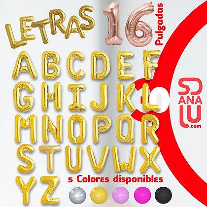 Letras de Globo 16' 40.5cms