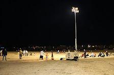 torre de iluminacion en evento