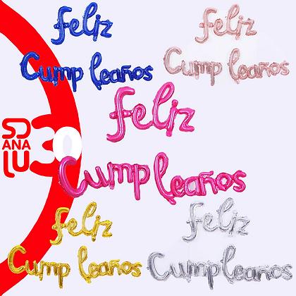 Set de Globos Feliz Cumpleaños 1.20m