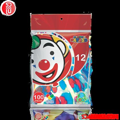 Bola Globo Marble Agata Multicolor c/100
