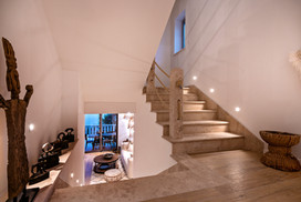 HAND CRAFTED STONE STAIRS AT MAISON MALA