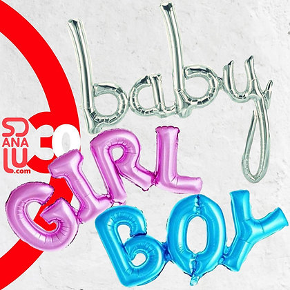 Set 3 Globos  baby , girl , boy