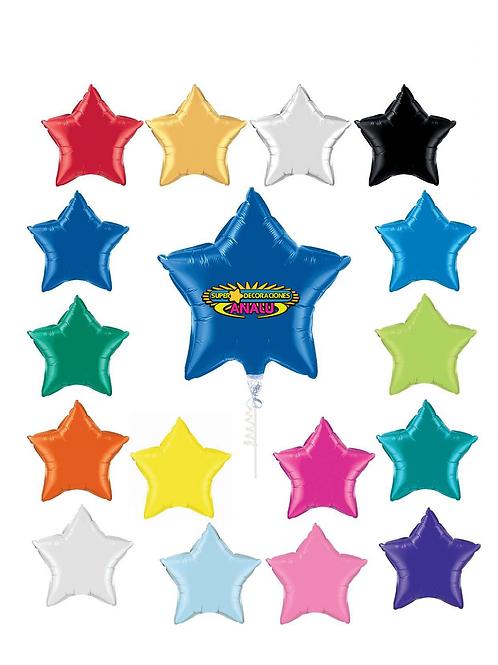 Globo Estrella Desinflado con Gas Helio # 18