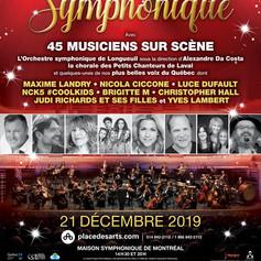 Affiche promotionnelle pour Noël Symphonique 2019