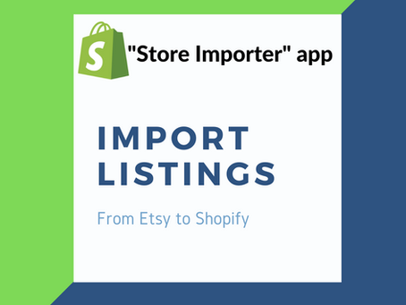 Import listings from Etsy to Shopify