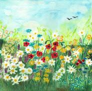 Louka květin