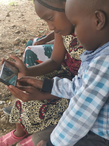 Also the kids in Kenia love watching video's on YouTube