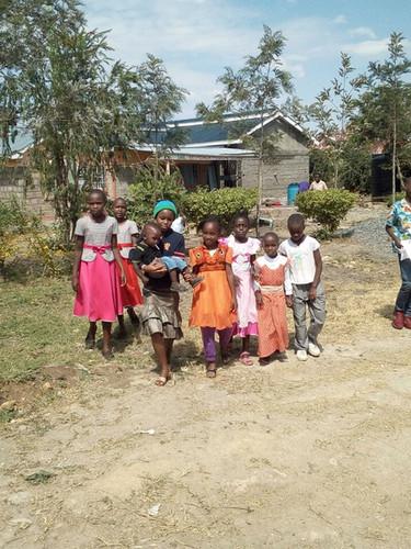 Children in front of the doctors kabinetkabinet
