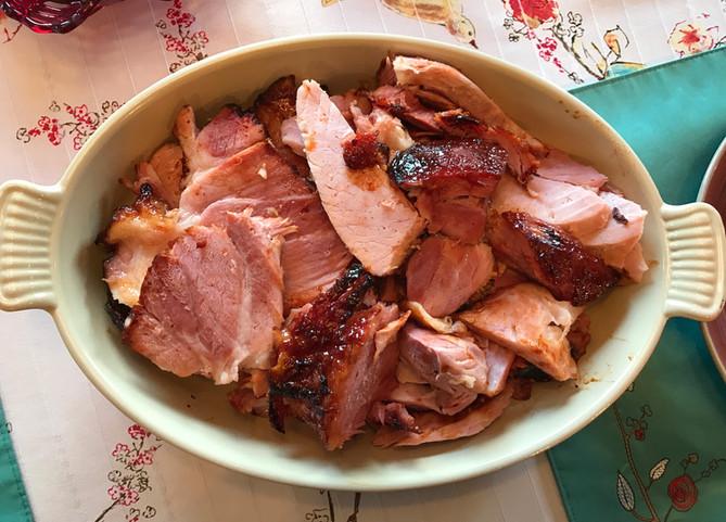 Smoked Ham Glazed with Maple Syrup