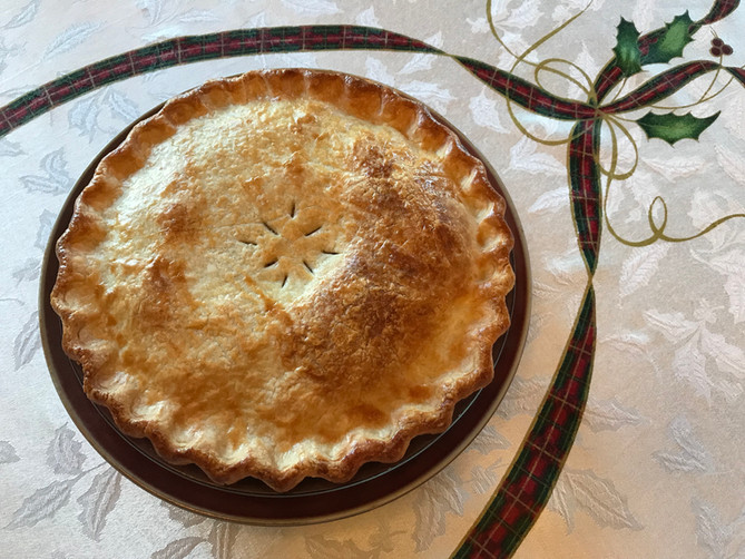 Mince Pie with Hard Sauce