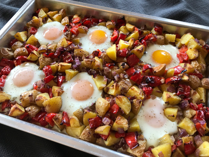 Baked Egg and Potato Hash