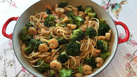 Shrimp and Broccoli Lo Mein