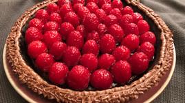 Raspberry Ganache Pie