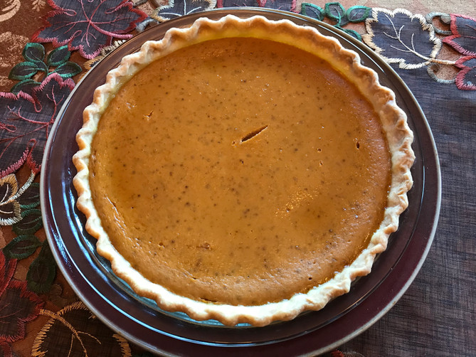November's Pumpkin Custard Pie