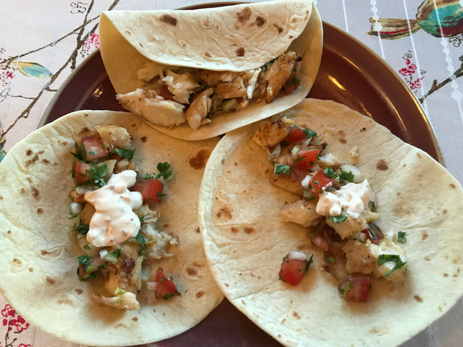 Fish Tacos with Chipotle Cream