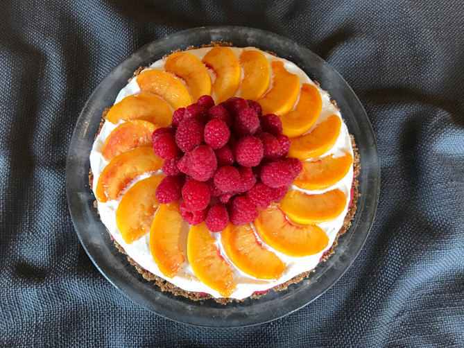 August's Peach Ice-Cream Pie