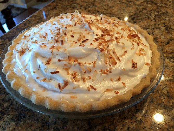 January's Light Coconut Cream Pie