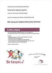 Caruso Urkunde