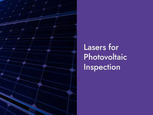 Lasers for PV Inspection
