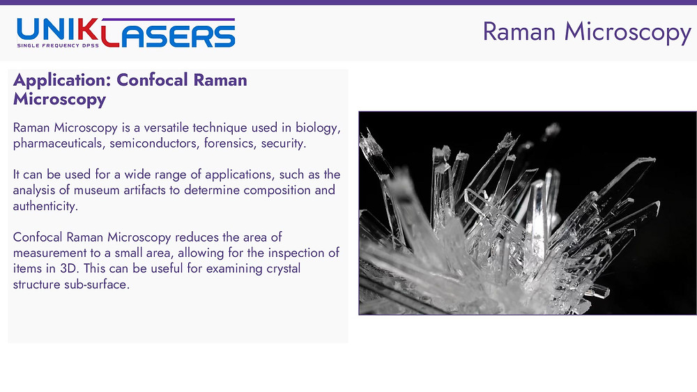 Introduction to confocal raman microscopy and application areas